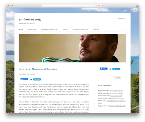 Twenty Twelve best free WordPress theme - ambestenweg.net