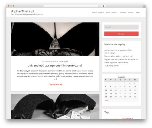 WhiteDot WordPress website template - alpha-theta.pl