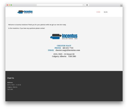 WordPress template Terminus - incentus.com