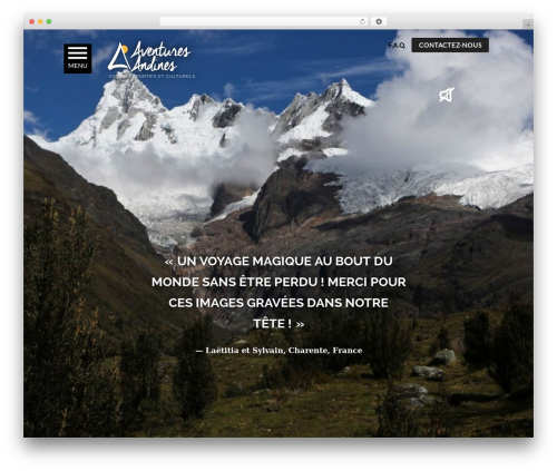 WordPress theme PloggMedia - andean-adventures.com