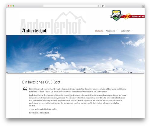 WordPress theme Striking MultiFlex & Ecommerce Responsive WordPress Theme - anderlerhof.at