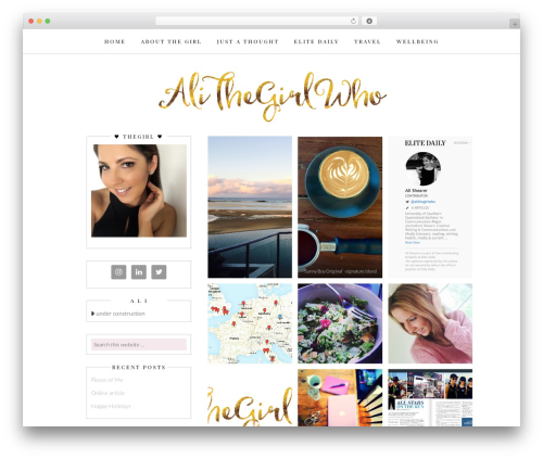 WordPress theme Whitney - alithegirlwho.com