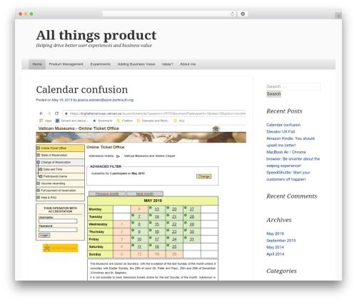 Able WordPress blog theme by Automattic
