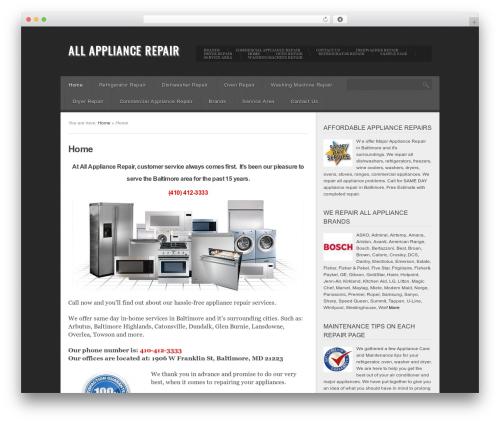 Best WordPress theme Insomnia - allbaltimoreappliancerepair.com