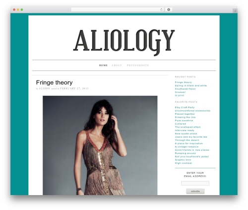 Brunelleschi fashion WordPress theme - aliology.com