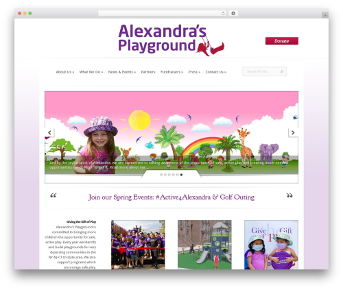 Evolution WordPress theme - alexandrasplayground.org