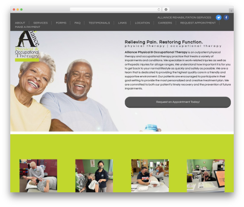 Generic free WordPress theme - alliancerehab.net