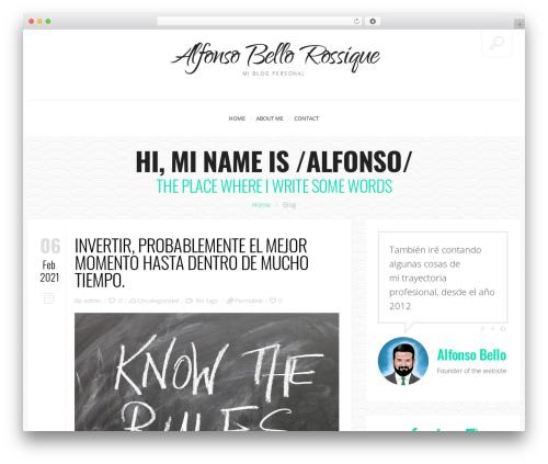 John Doe Blog WordPress website template - alfonsobello.com