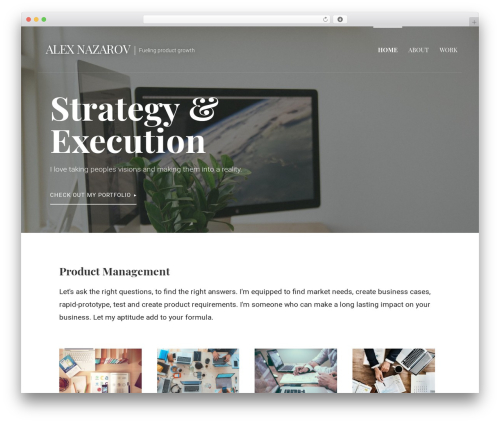 Primer WordPress theme design - alexnaz.com