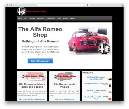 Free WordPress 3D Tag Cloud plugin - alfa-romeo-shop.com