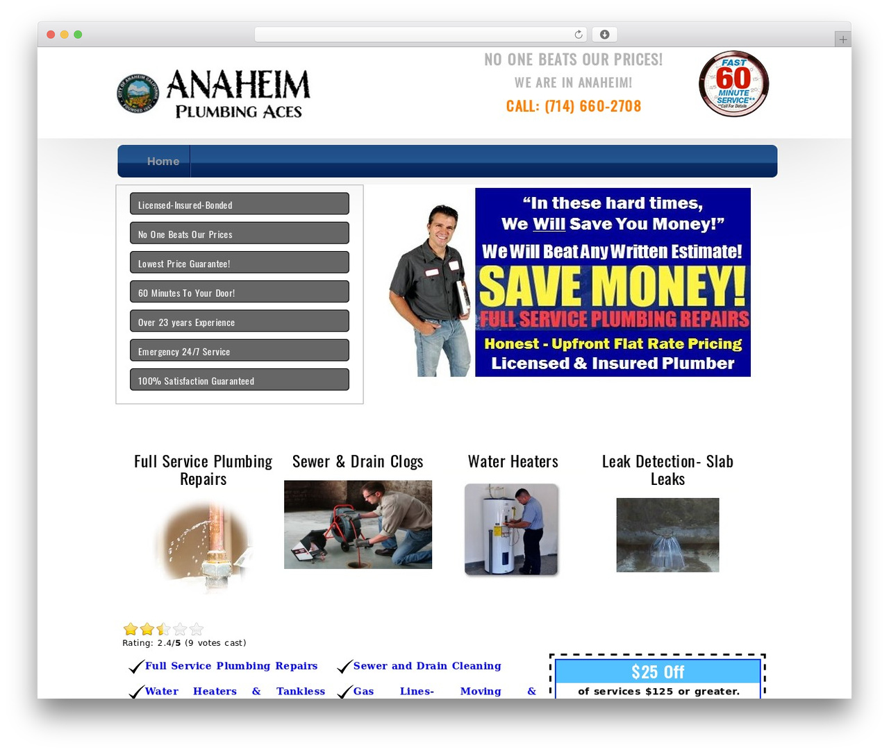 The Service Theme WordPress theme design - anaheimplumbers.org
