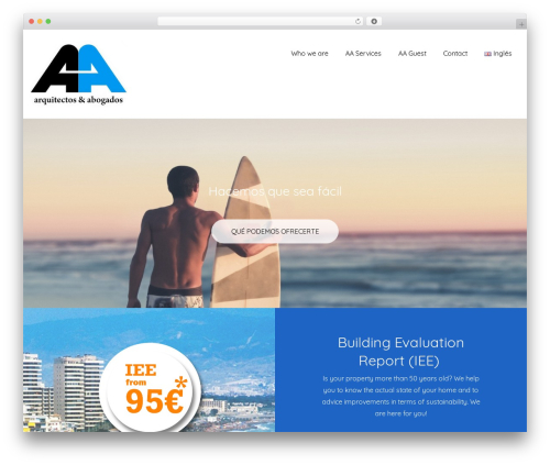 Upsurge premium WordPress theme - aaarquitectosyabogados.com