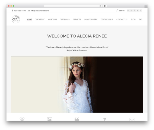 Armada best WordPress template - aleciarenee.com