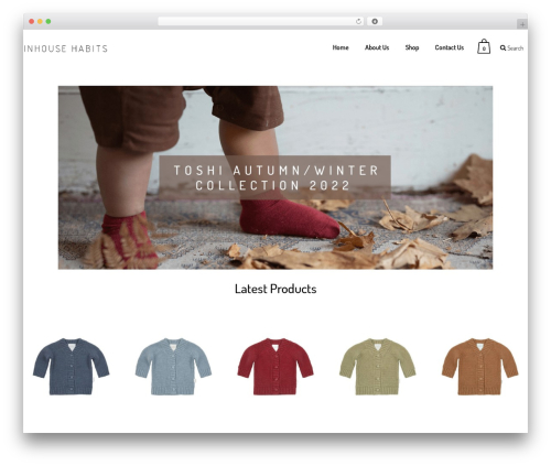 Bazaar WordPress theme - inhousehabits.com.au