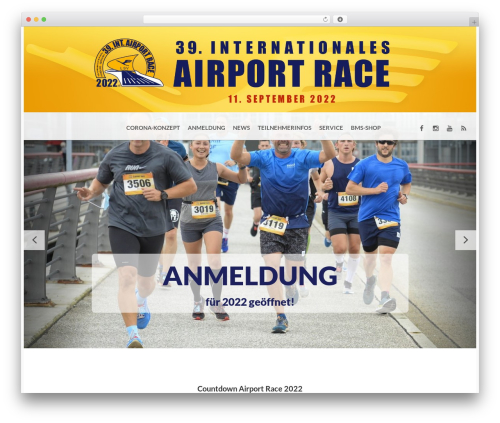 BMS WordPress theme - airportrace.de