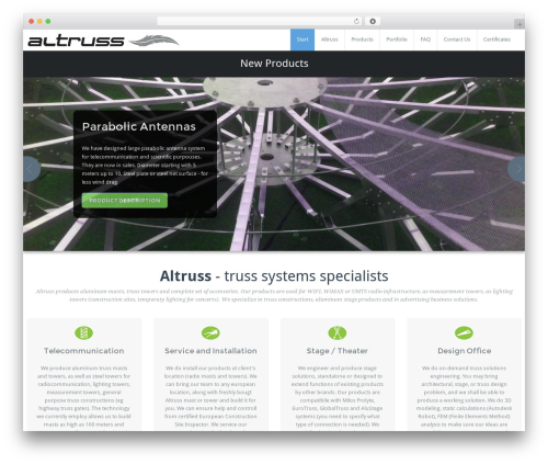 BusiProf Pro theme WordPress - altruss.com