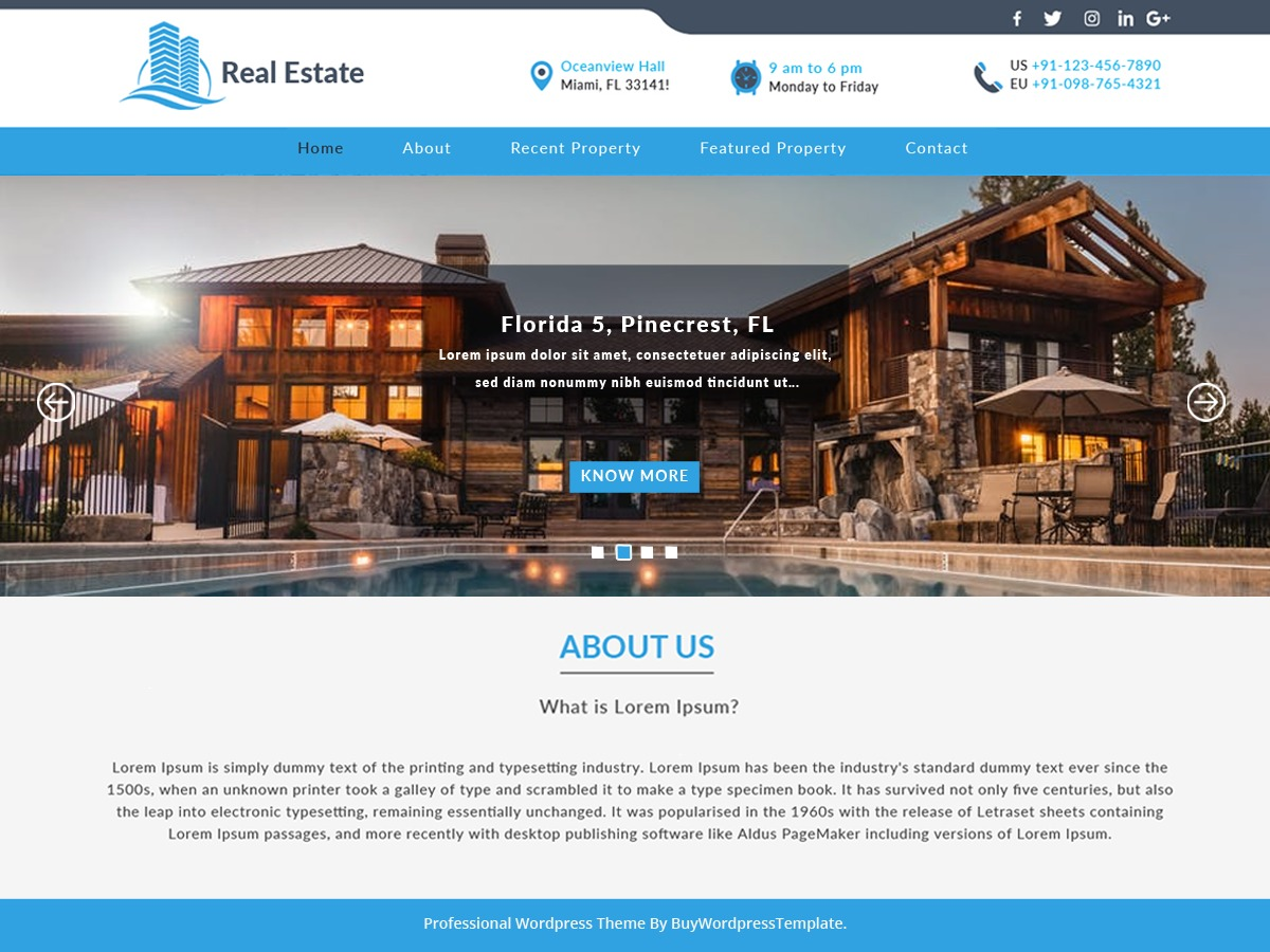 Construction Realestate WordPress landing page theme