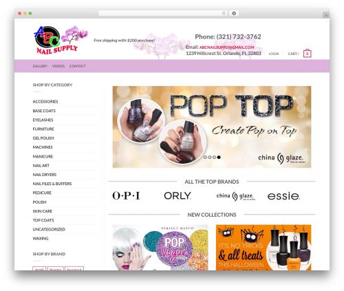 Flatsome WordPress theme - abcnailsupplies.com
