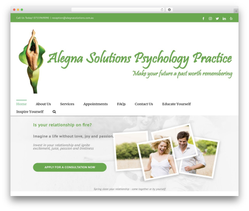 Theme WordPress Avada - alegnasolutions.com.au