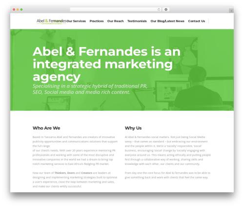 Theme WordPress Pitch - abelfernandes.com