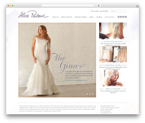 Free WordPress WP Mobile Menu plugin - alicepadrul.com/chicago-wedding-dresses