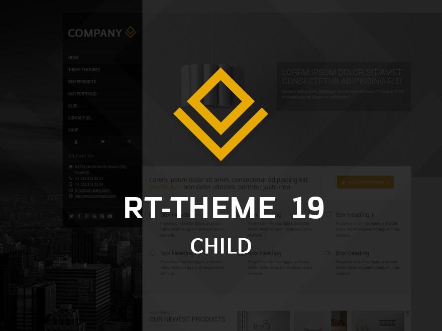 WordPress theme RT-Theme 19 Child