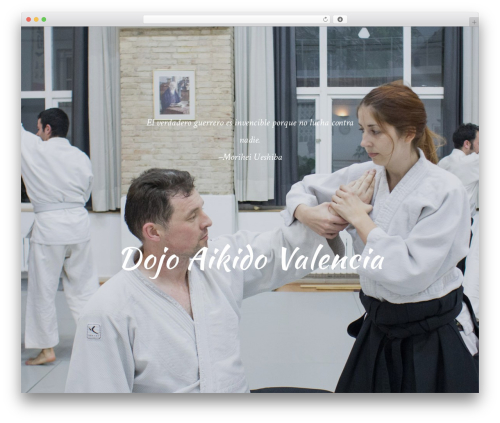 WP template Oshin (shared on wplocker.com) - aikidovalencia.es