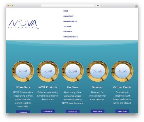 WP theme neve - novafish.com