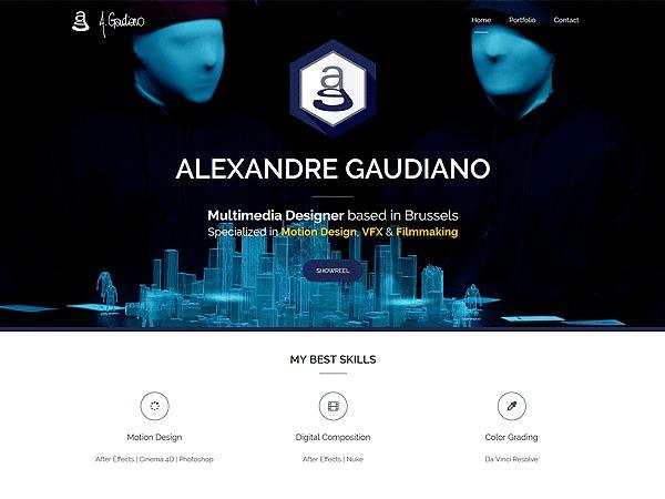 AG Portfolio 2016 personal blog WordPress theme