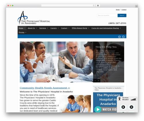Grand College WordPress theme - anadarkohospital.com