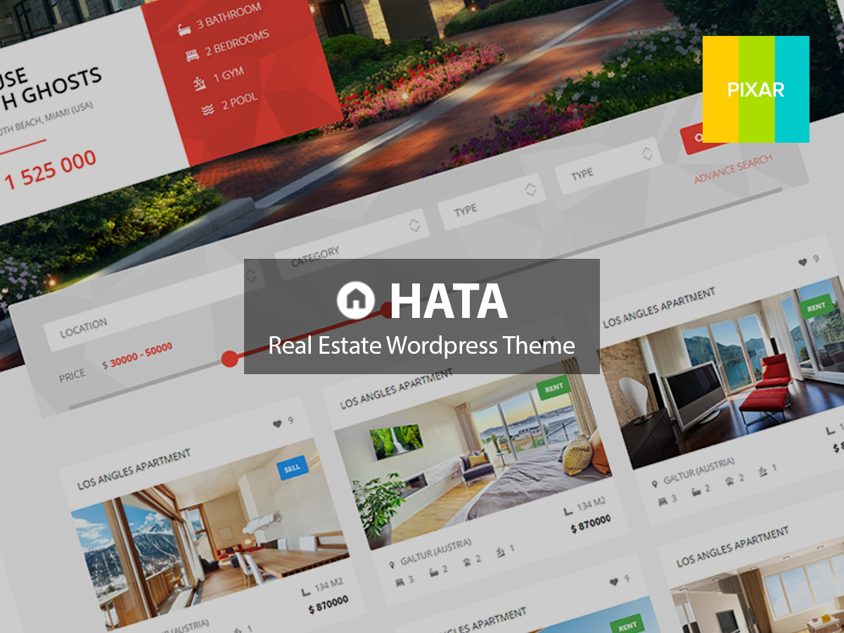 HATA real estate template WordPress