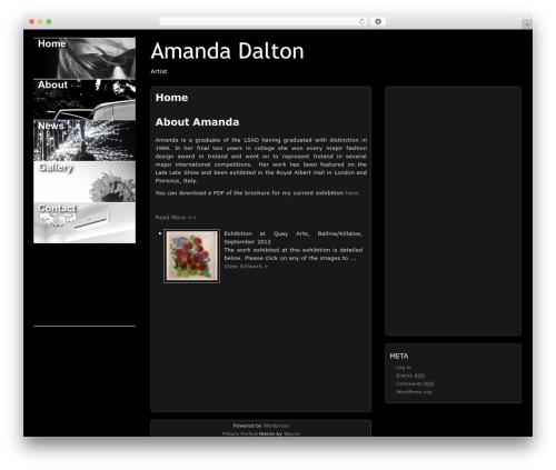 Picture Perfect WordPress website template - amandadaltonartist.com