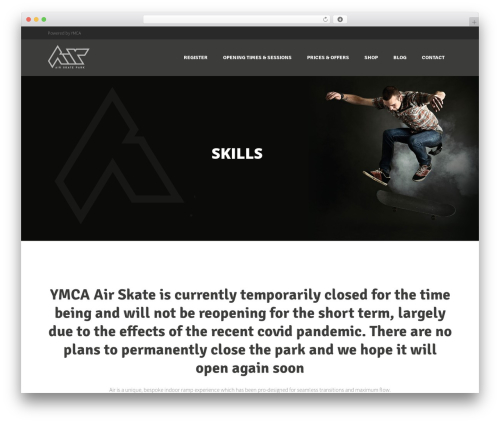 Punto WordPress theme - air-skate.co.uk