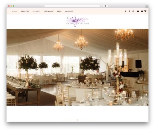 Quinn WordPress wedding theme - agsevents.com