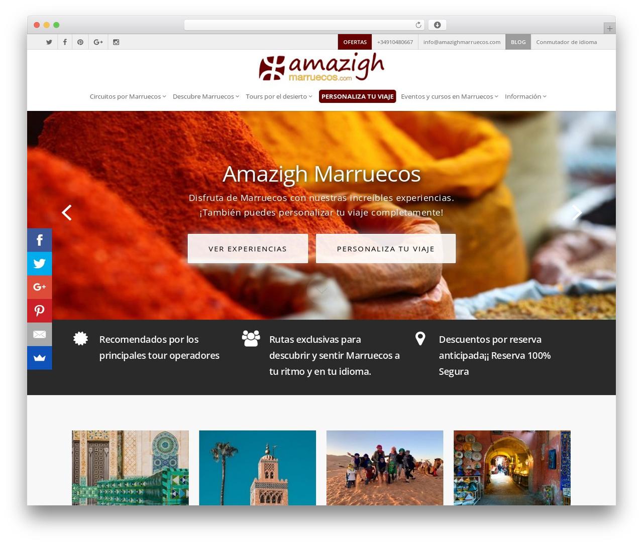 Salient garden WordPress theme - amazighmarruecos.com