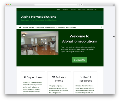 Socrates v5 top WordPress theme - alphahomesolutions.com