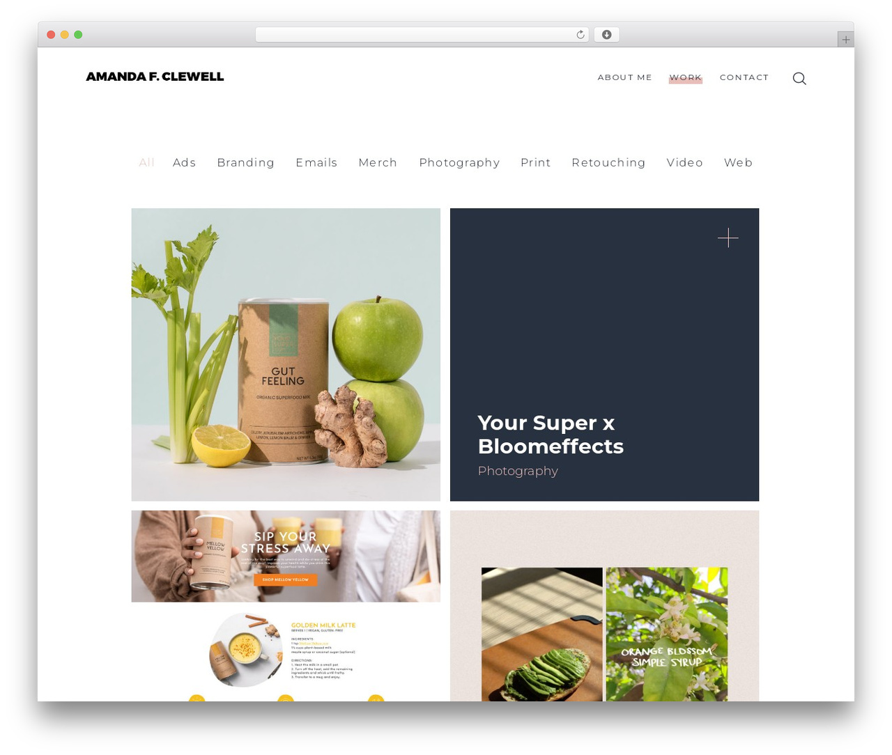 SohoPRO WordPress theme - amanda-faye.com