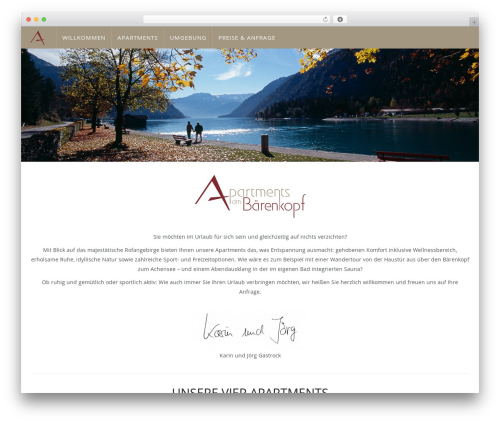 Theme WordPress WP Omnia - achensee.apartments
