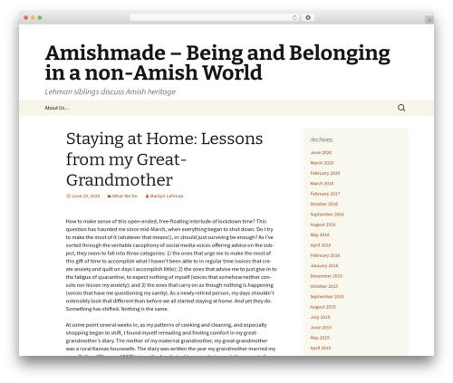 Twenty Thirteen free WordPress theme - amishmade-beingandbelonging.com
