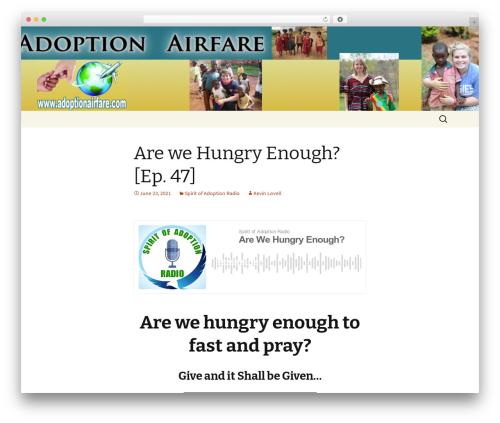 Twenty Thirteen free WordPress theme - adoptionairfare.net