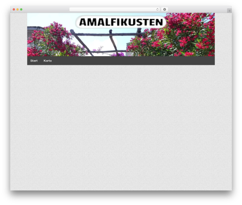 WordPress template Responsive Pro - amalfikusten.se