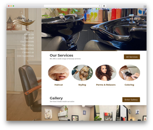 WordPress theme BeautySpot - alurelancastersalon.com