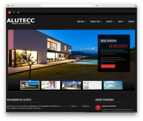 WordPress theme cherry - alutecc.de