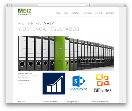 WordPress theme Rework - abiz.es
