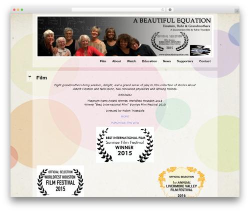 Best WordPress theme Black Label - abeautifulequation.com