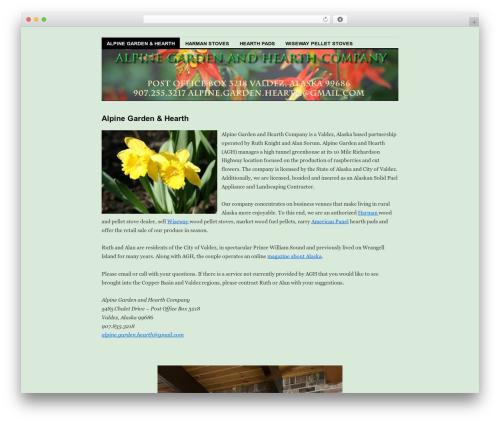 Coraline WordPress template for business - alpine-garden-hearth.com