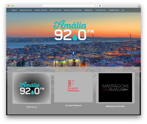 Fifteen WordPress template free - amalia.fm