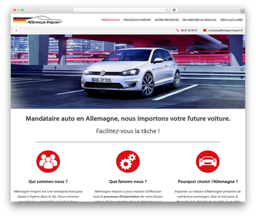 Flash free WP theme - allemagne-import.fr
