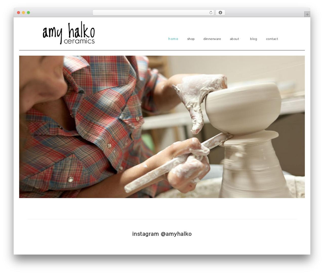 Make free WordPress theme - amyhalko.com