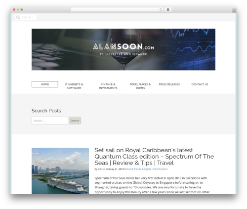 Matheson Pro theme WordPress - alansoon.com